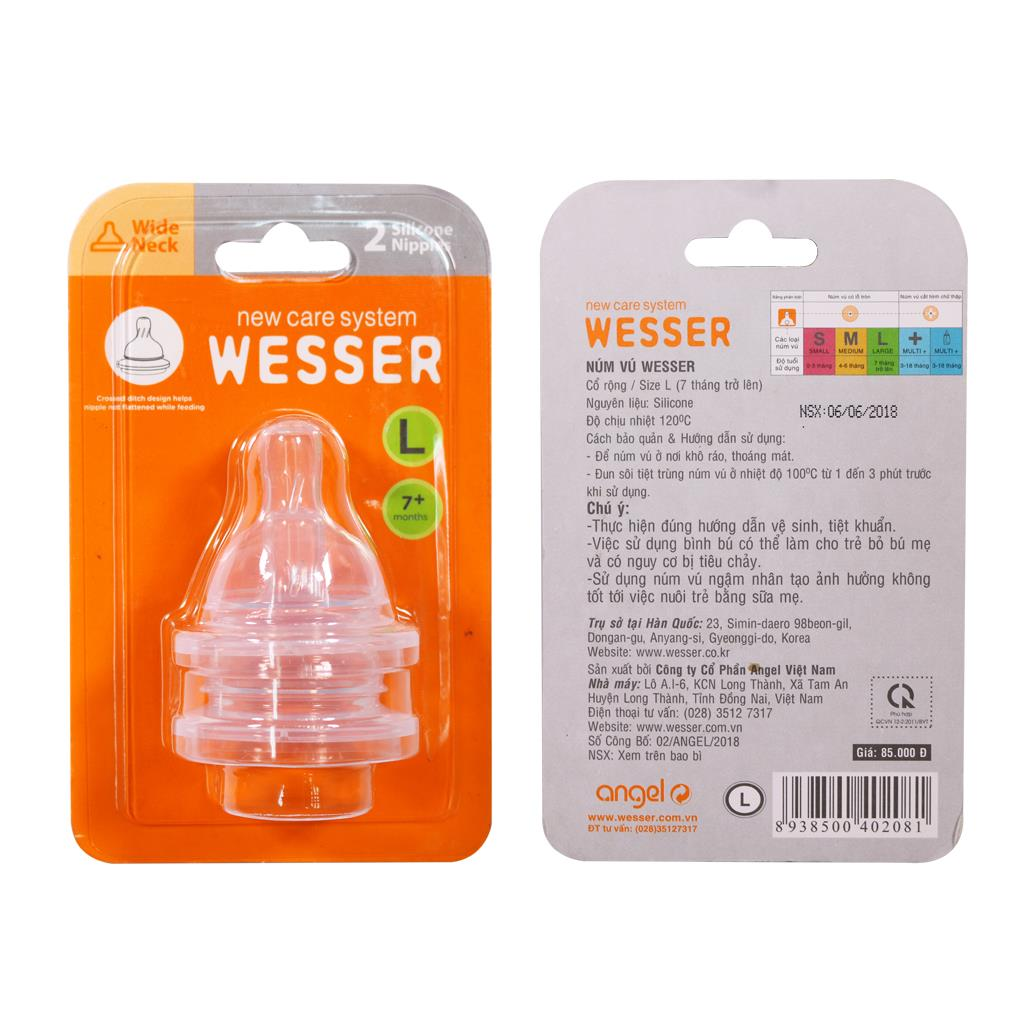 Wesser Wide Neck Nipple Size L