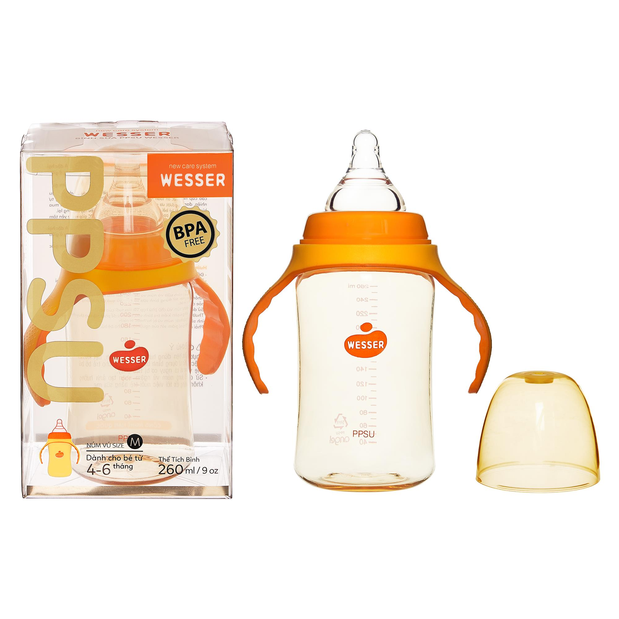 Wesser PPSU Feeding Bottle 260ml