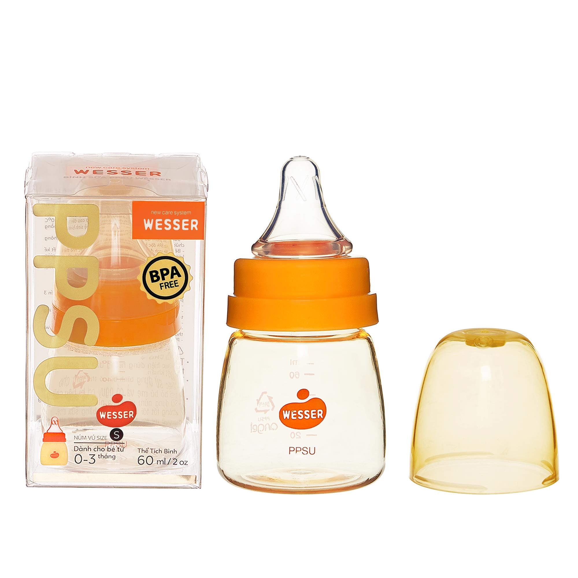 Wesser PPSU Feeding Bottle 60ml