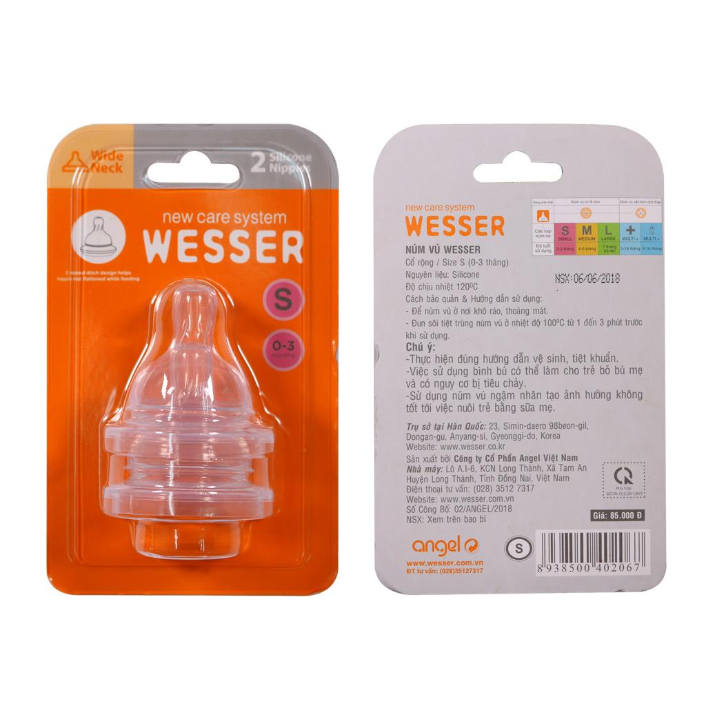 Wesser Wide Neck Nipple Size S